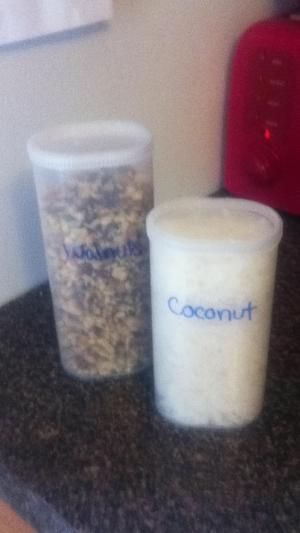 Crystal light containers to hold baking goods :-) by courtney