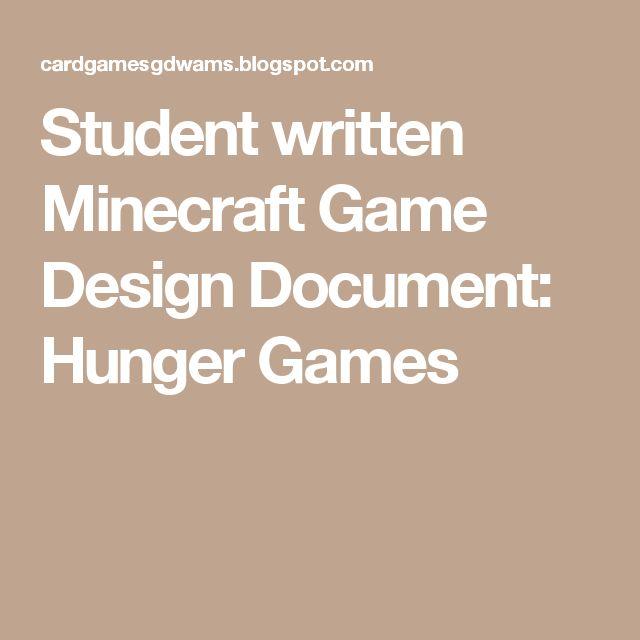 Student Written Game Design Document Tempris A Minecraft