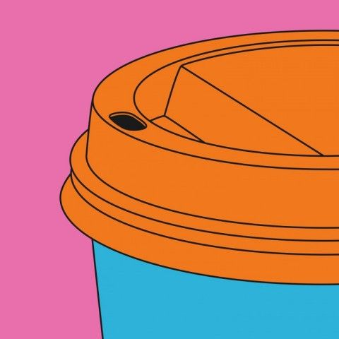 RA Summer Exhibition 2015 work 746 : FRAGMENT COFFEE CUP by Michael Craig-Martin RA, £3000.