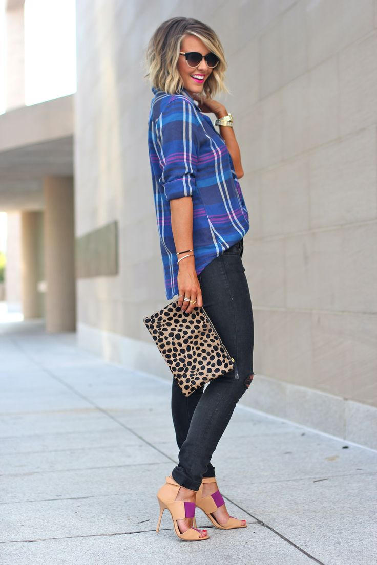 Love plaid and leopard together!