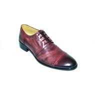 "Pantofi eleganti barbati ""Black Heart"" - 12-815 Dark Purple"