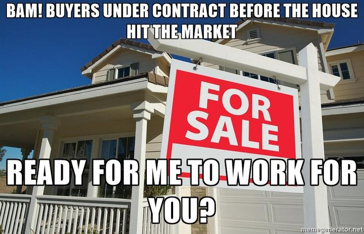 BAM! Buyers under contract before the house hit the market Ready for me to work for you? - Realtor Sign