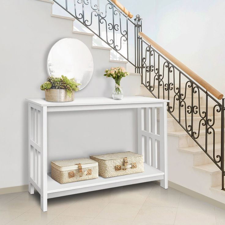 MDF & Pine Wood Contemporary Console Table in White shopping, Buy Furniture online at MyDeal for best deals, coupons, bargains, sales