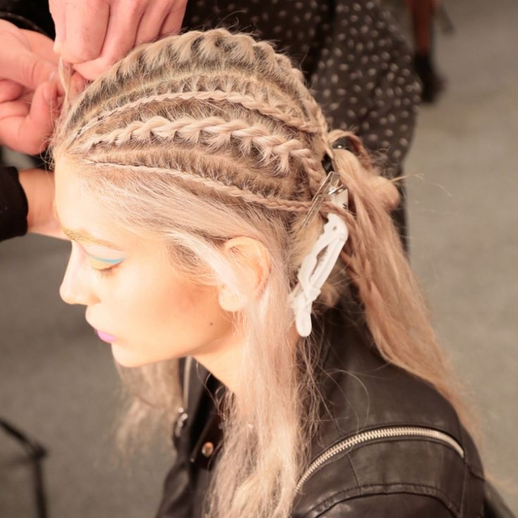 Runway Report Intricate Braids at Jeans for Refugees  Fashion Week Beauty  Hair styles