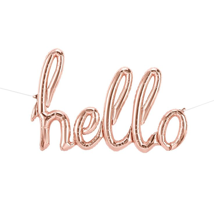 Foil Balloon Banner - Hello