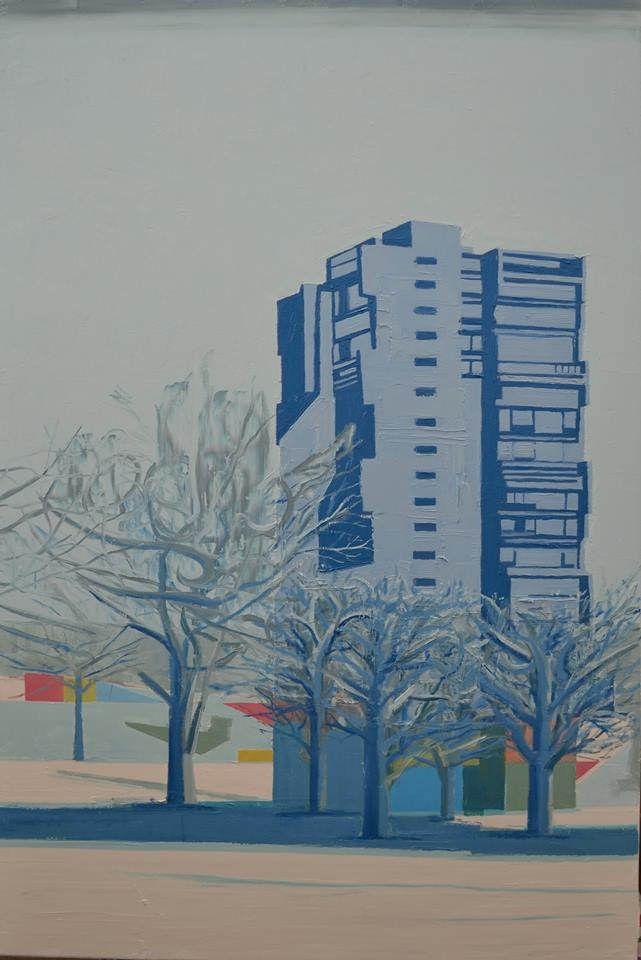 Berlin Winterlandscape, 2016 Oil on linen, 80x120cm