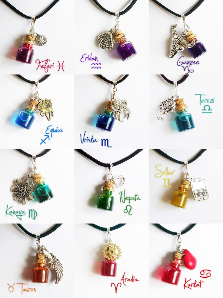 Homestuck - troll blood necklaces by FrozenNote.deviantart.com on @deviantART Does anyone else find these kinda disgusting? Here's your favorite character's blood to wear around your neck!