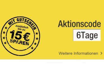 Galeria Kaufhof: Bis zu 15 Euro Rabatt beim neuen Sechs-Tage-Rennen https://www.discountfan.de/artikel/technik_und_haushalt/galeria-kaufhof-bis-zu-15-euro-rabatt-beim-neuen-sechs-tage-rennen.php Bei der Galeria Kaufhof ist ein neues Sechs-Tage-Rennen gestartet. Discountfans können im Online-Shop und in der Filiale vor Ort bis zu 15 Euro sparen. Galeria Kaufhof: Bis zu 15 Euro Rabatt beim neuen Sechs-Tage-Rennen (Bild: Galeria Kaufhof) Das neue Sechs-Tage-Rennen der Galeria