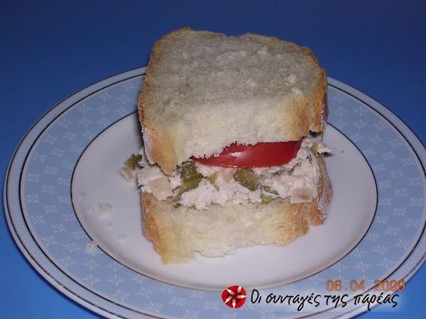 Σάντουιτς διαίτης με τόνο ή κοτόπουλο #sintagespareas