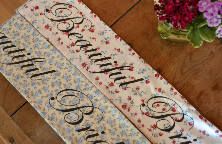 Oh Squirrel - Stationery & Textile Design -  Vintage Hen Parties www.ohsquirrel.co.uk Vintage hen party sash in ditsy florals
