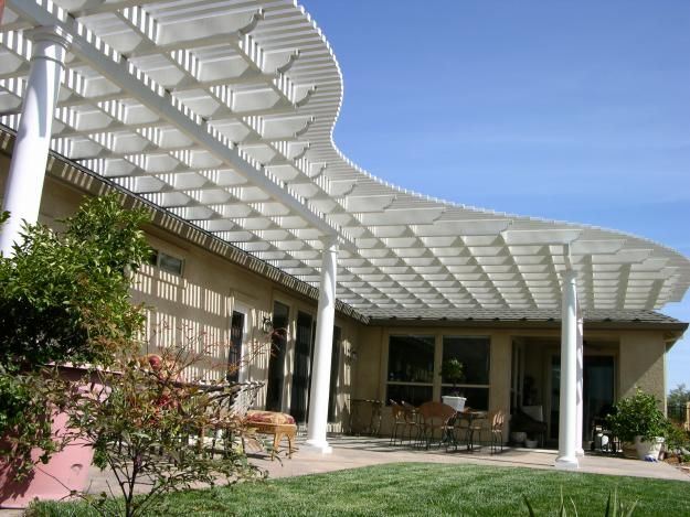 Patio covers wood patio cover vs aluminum patio cover landscape my yard pinterest wood - Types patio roofing ...