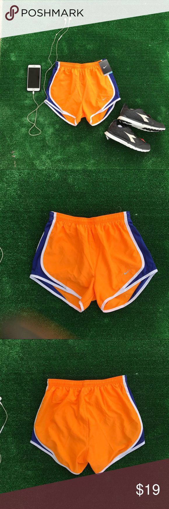 Nike Women's Dri Fit Orange Running Shorts # 868 New with tags  Sizes xs and s Comfy and casual shorts Nike Shorts