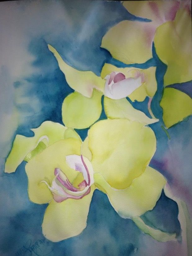 Orchid watercolour