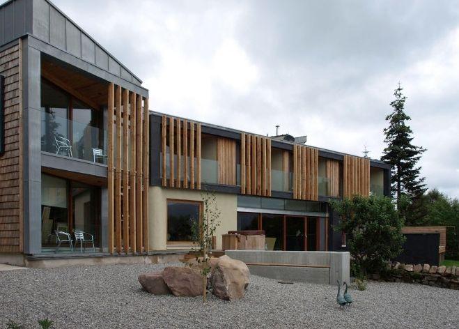 Timber and zinc cladding zinc cladding pinterest for Modern zinc houses