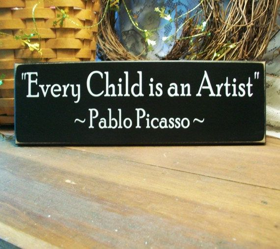 Every Child Is An Artist Wood Sign Wall Decor Nursery