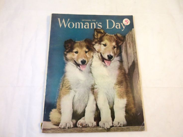 Vintage Woman's Day Magazine September 1950 Retro Birthday Gift Vintage Magazine Mid Century Advertising Fashions Crafts Puppy Cover by BonniesVintageAttic on Etsy
