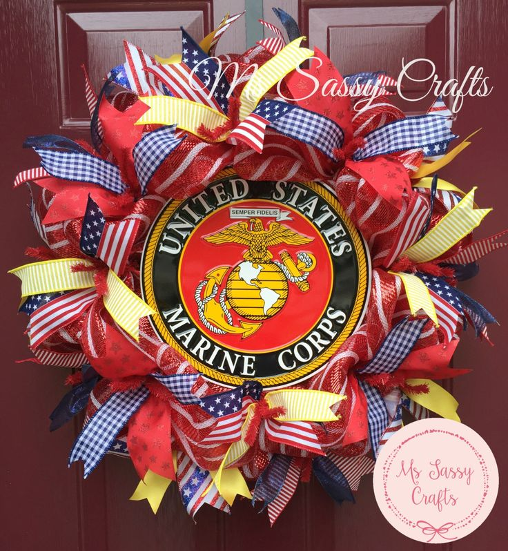 Marine Corps wreath ideas - Google Search   Crafts   Army ...