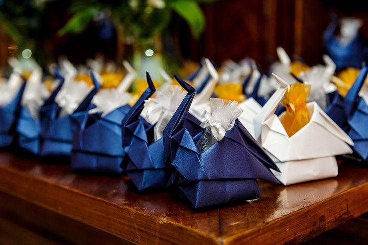 lembrancinha para convidados de casamento com origami