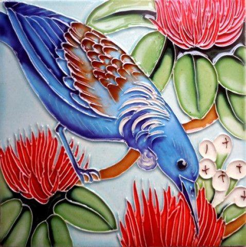 Ceramic Art Tui Tile – www.themotelshop.co.nz