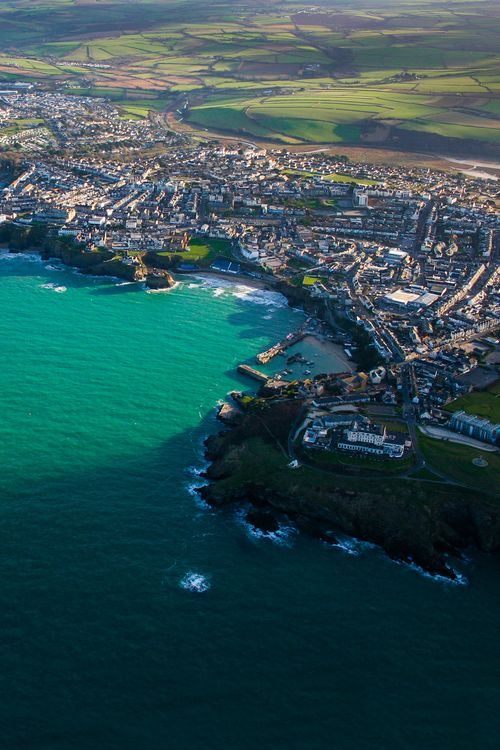 Newquay, Cornwall, England from above