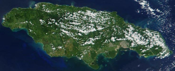 Imagem de satélite da Jamaica em novembro de 2001 // Satellite image of Jamaica in November 2001 ◆Jamaica – Wikipédia http://pt.wikipedia.org/wiki/Jamaica #Jamaica