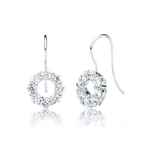 Simpatico Hoop Earrings with Cubic Zirconia