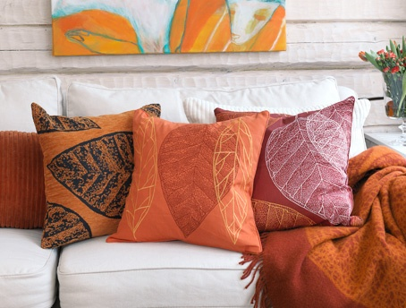 Autumn cushions and throws from Pentik
