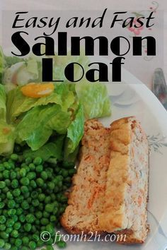 Fast And Easy Salmon Loaf | A twist on meatloaf that replaces the meat with salmon