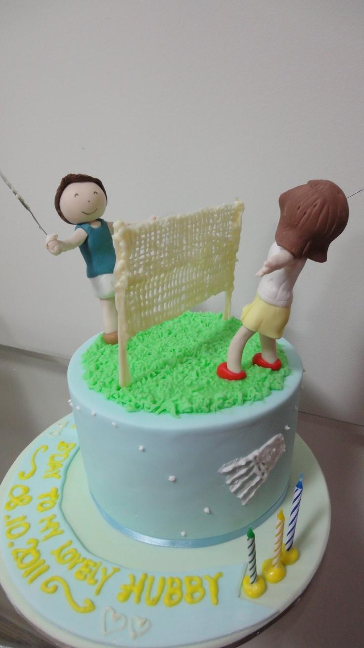 Badminton cake by http://sugarcloudcakes.com.au