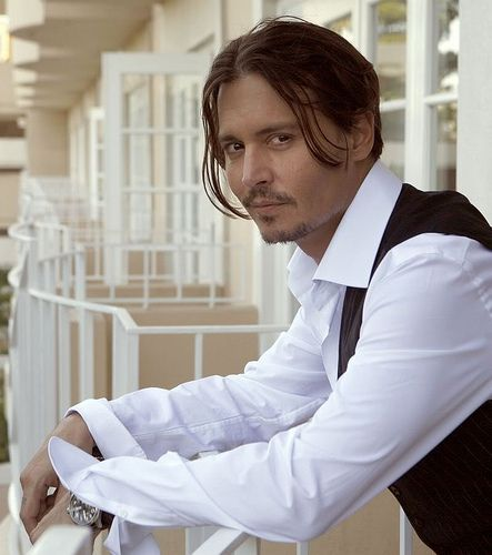 Johnny Depp OMG!!! Mmmmm!!! Mmmmmm!!!! Come on over to my balcony baby, and I'll make that sexy smile of yours turn into pure pleasure!!!! And you'll never want to leave because you will have fallen madly, and passionately in love with me!!! :-)))