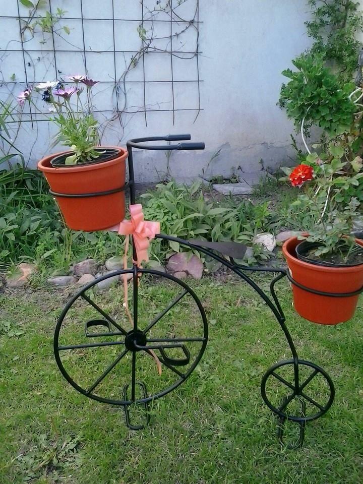 Bicicleta portamacetas, 60cm de largo