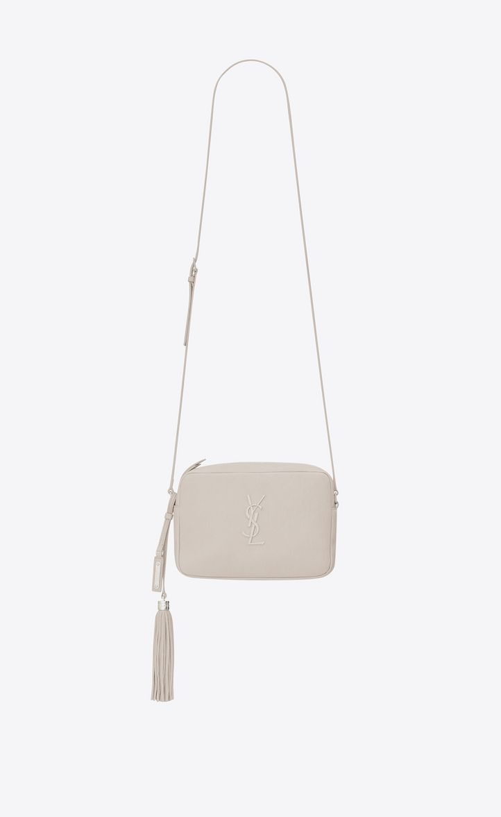 46bba7f1cea SAINT LAURENT LOU CAMERA BAG IN ICY WHITE LEATHER. #saintlaurent #bags  #shoulder bags #leather #