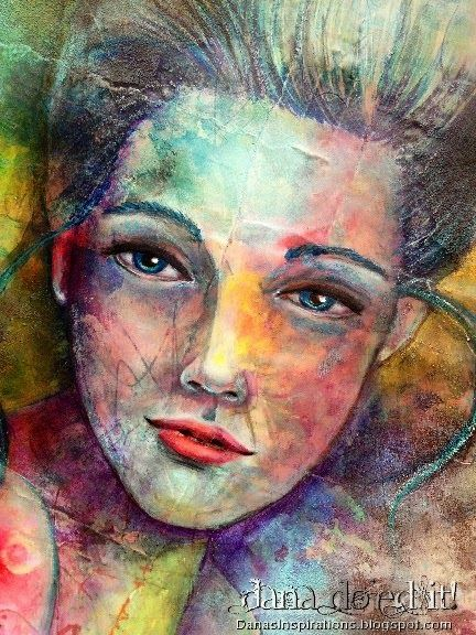 Dana's Inspirations: A Mixed Media Portrait