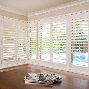 Folding Wooden Window Blinds