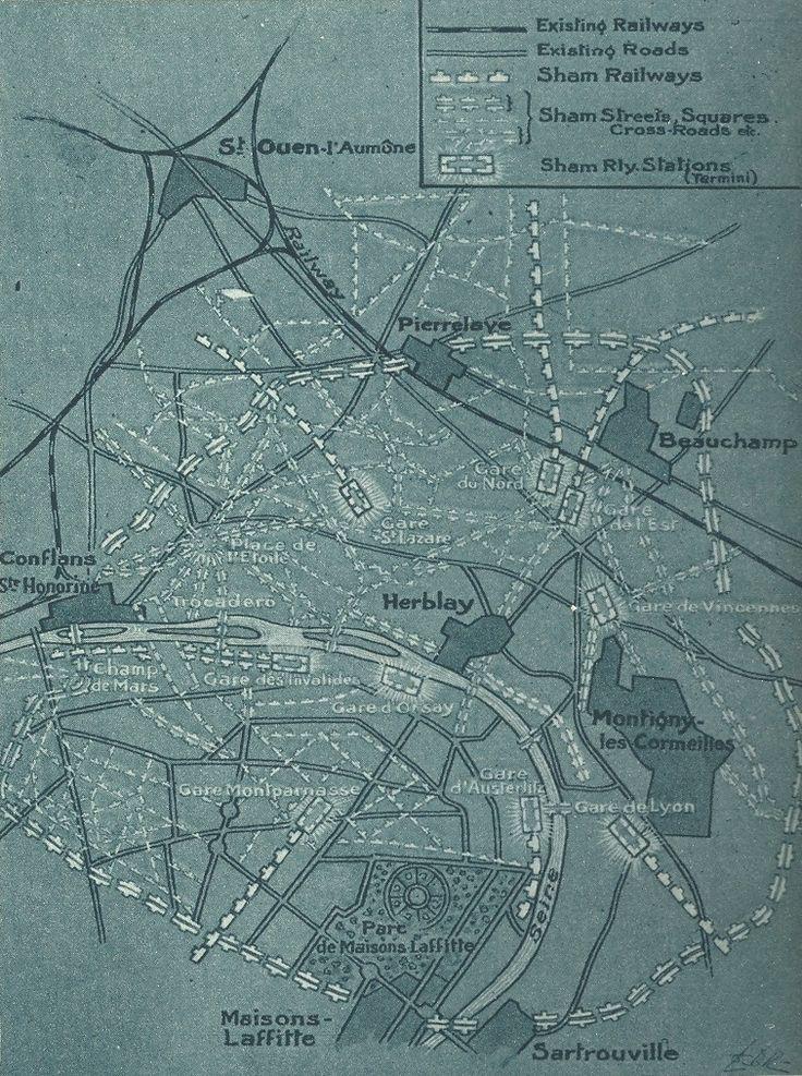 WWI Fake Paris Map 79 best
