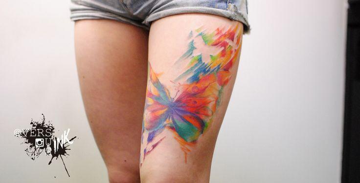 16 best images on pinterest hot for Splash color tattoo