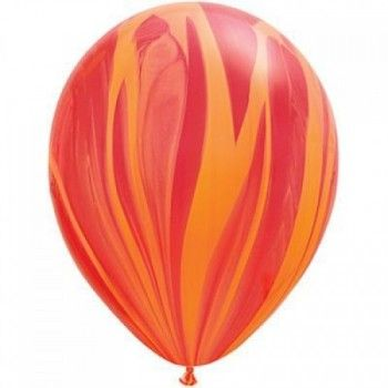 28cm Marble Agate Orange Latex Balloons : The Party Cupboard Online Party Supplies Store Australia | The Party Cupboard