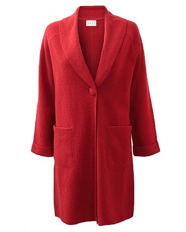 Boiled Wool Shawl Coat The luxurious shawl collar design adds a modern luxe twist to this boiled wool jacket. Features covered buttons and side pockets. Great with jeans or cords and your favourite feminine blouses.
