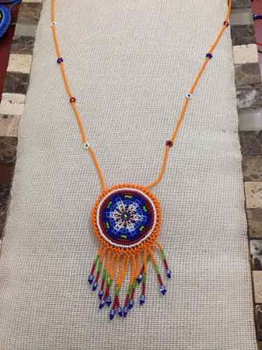 Collar De Chaquira, Artesania Huichol - $ 350.00
