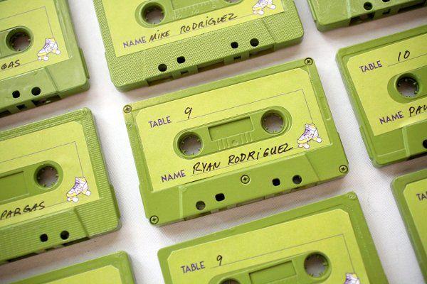 mix tape escort cards. #Bringoutthemusic