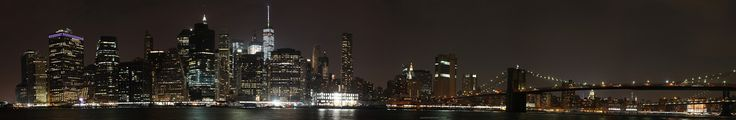 Lower Manhattan Panorama-taken last night from Brooklyn [OC] [21140x3450]