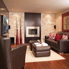 Foyer à l'éthanol au sous-sol - Sous-sol - Inspirations - Décoration et rénovation - Pratico Pratique