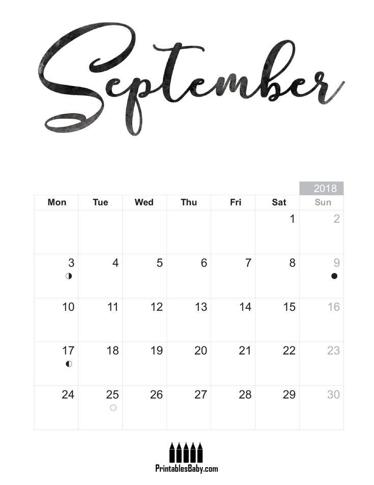 The  Best September Calendar Printable Ideas On