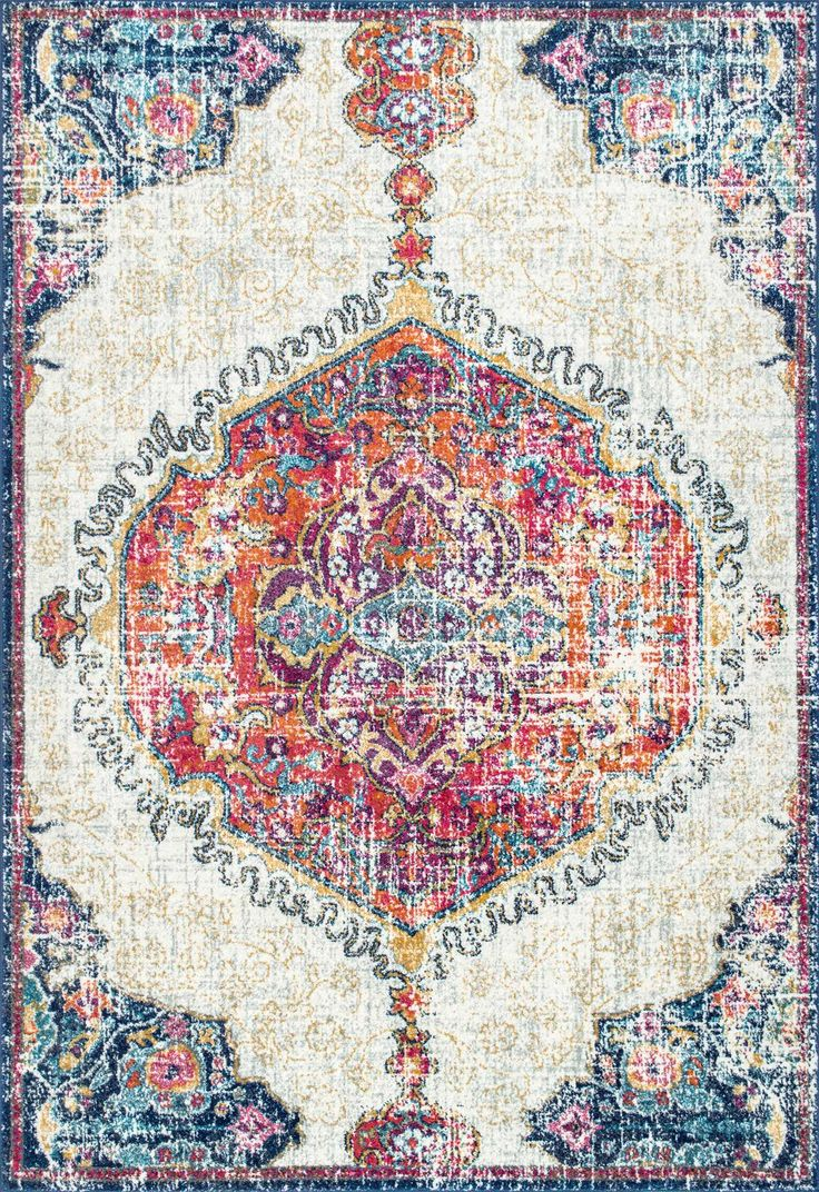 Obsessed with this Rugs USA Bosphorus BD63 Frilly Corinthian Medallion Rug!