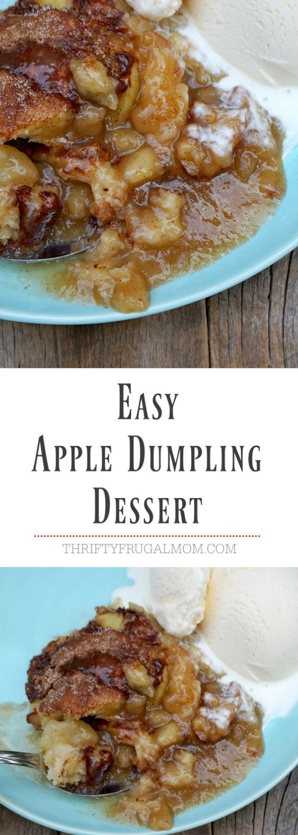 Easy Apple Dumpling Dessert-- all the deliciousness of apple dumplings without all the work! Love this apple dessert!