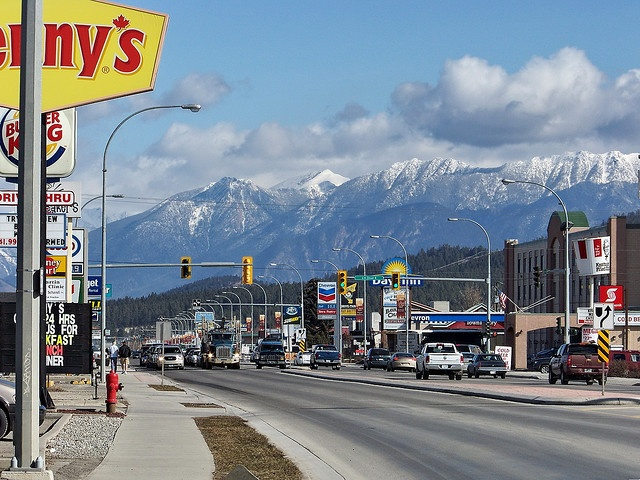 Cranbrook BC, beautiful shot showing the mountains surrounding.