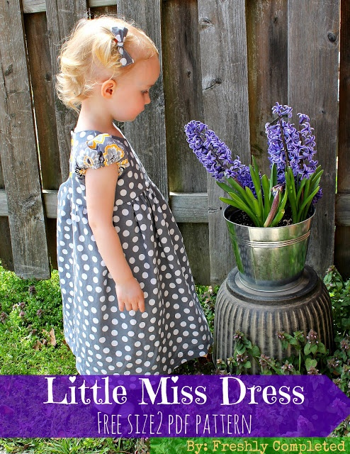 Little Miss Dress-- Free Size 2 Dress Pattern by Freshly Completed