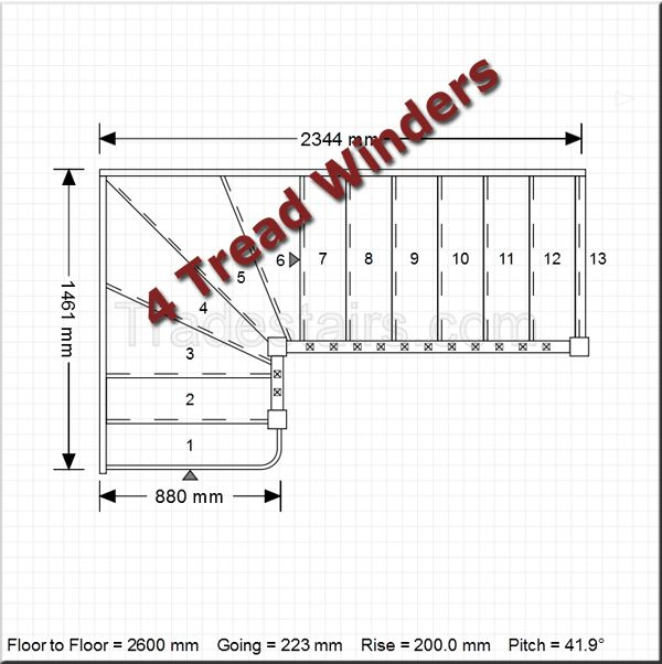 Best Use The Stairplanner To Design Winder Staircases Buy 400 x 300