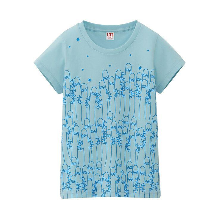 女童 Moomin 印花T恤 (短袖)