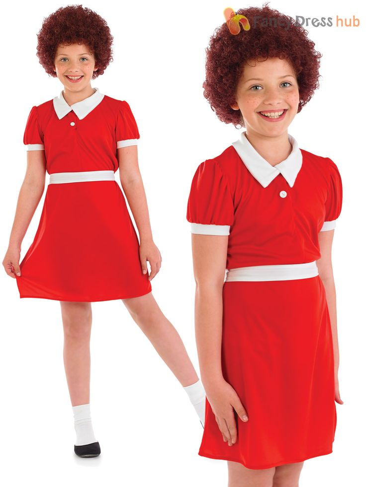 #Girls #orphan annie #fancy dress costume child musical character book week outfi, View more on the LINK: http://www.zeppy.io/product/gb/2/181988173958/